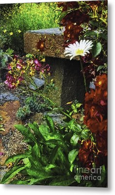 Garden Color Metal Print by Nancy Marie Ricketts