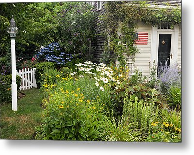 Garden Cottage Metal Print by Bill Wakeley