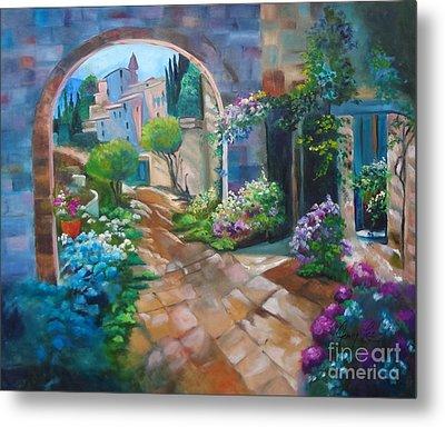 Garden Courtyard Metal Print