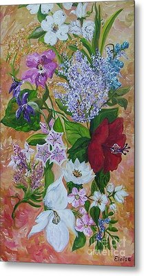 Metal Print featuring the painting Garden Delight by Eloise Schneider