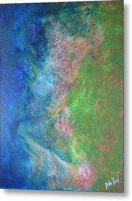 Metal Print featuring the painting Garden Dreams by John Fish