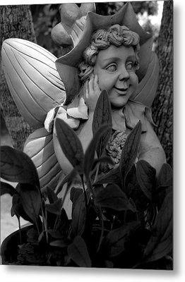 Garden Fairy Statue Metal Print