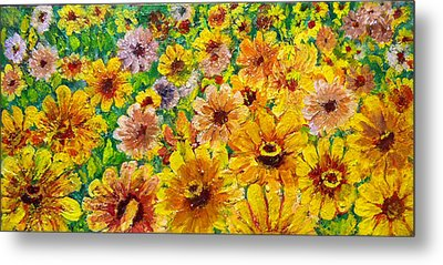 Garden Flowers Metal Print by Don Thibodeaux