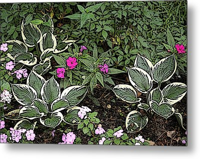 Garden Flowers Metal Print by Donald Williams
