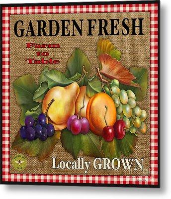 Garden Fresh-jp2386 Metal Print by Jean Plout