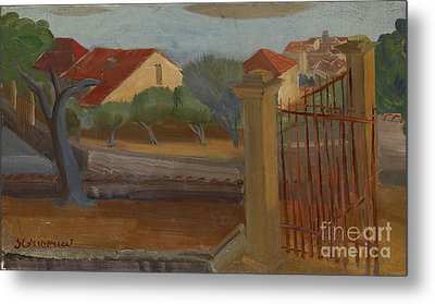 Garden Gate Metal Print by Celestial Images