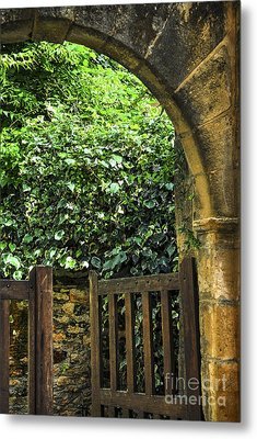 Garden Gate In Sarlat Metal Print by Elena Elisseeva