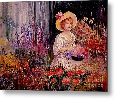 Garden Girl Metal Print by Marilyn Smith