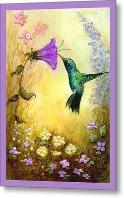 Garden Guest In Lavender Metal Print