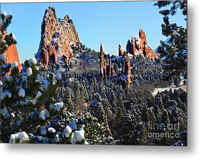 Metal Print featuring the photograph Garden Of The Gods After Snow Colorado Landscape by Jon Holiday