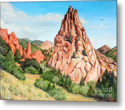 Kindergarten Rock - Garden Of The Gods Metal Print