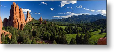 Garden Of The Gods Panorama At It's Best Metal Print