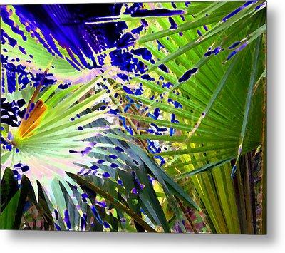 Garden Palms Metal Print