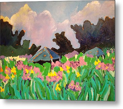 Garden Party 2 Metal Print by Rodger Ellingson