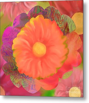 Garden Party IIi Metal Print by Christine Fournier