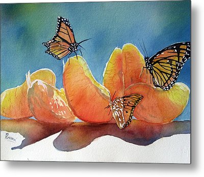 Garden Picnic Metal Print by Patricia Pushaw