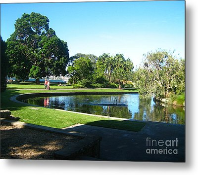 Metal Print featuring the photograph Sydney Botanical Garden Lake by Leanne Seymour