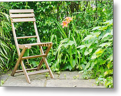 Garden Seat Metal Print