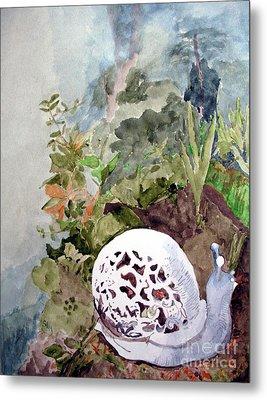 Garden Snail Metal Print by Sandy McIntire