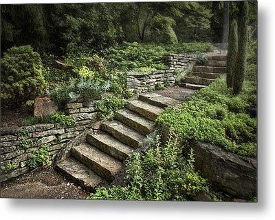 Garden Steps Metal Print by Tom Mc Nemar