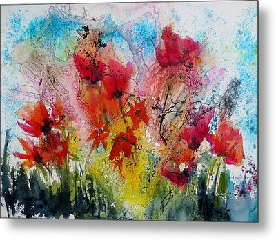 Metal Print featuring the painting Garden Tangle by Anne Duke