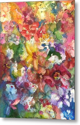 Garden - The Secret Life Of The Leftover Paint Metal Print