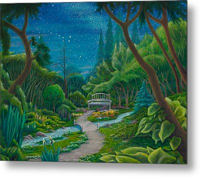 Garden Under Ursa Major Metal Print by Matt Konar