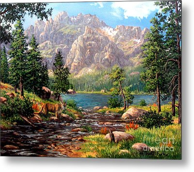 Garden Wall Metal Print by W  Scott Fenton
