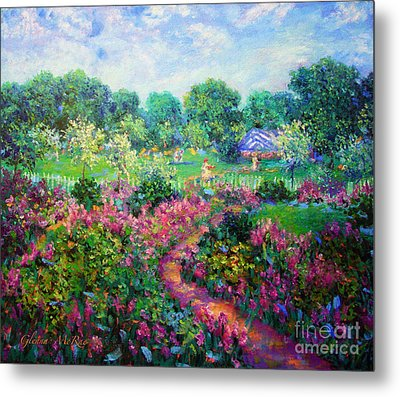 Garden Wedding Metal Print by Glenna McRae