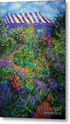 Garden Wedding Reception Metal Print by Glenna McRae