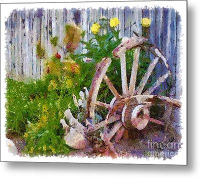 Garden Whhel Metal Print