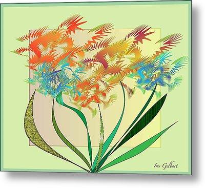 Garden Wonder Metal Print by Iris Gelbart