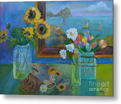 Gardener's Bounty Metal Print by Lynn Rattray