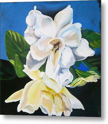 Gardenias Metal Print by Shelley Overton
