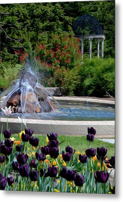 Metal Print featuring the digital art Gardens At Maymont by Kelvin Booker