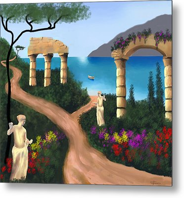 Gardens Of Venus Metal Print by Larry Cirigliano