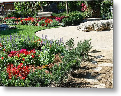 Gardenscape Metal Print by Aimee L Maher Photography and Art Visit ALMGallerydotcom