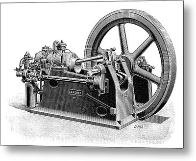 Gardner Gas Engine Metal Print by Science Photo Library