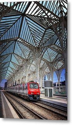 Gare Do Oriente Lisbon Metal Print by Carol Japp