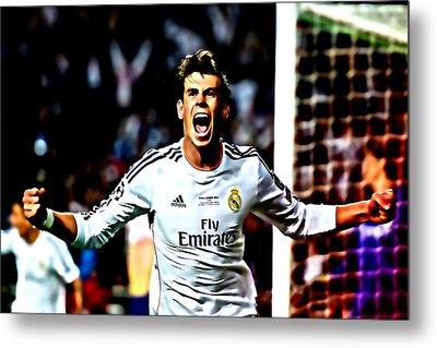 Gareth Bale Celebration Metal Print by Brian Reaves