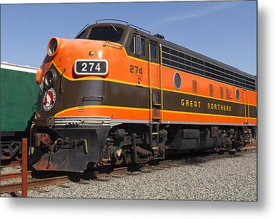 Garibaldi Locomotive Metal Print by Wes and Dotty Weber