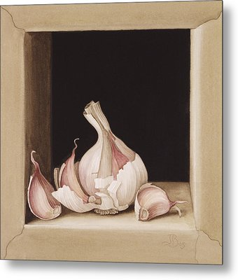 Garlic Metal Print