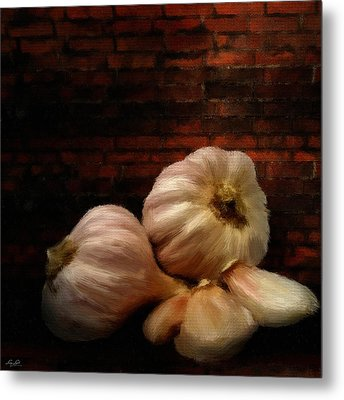Garlic Metal Print by Lourry Legarde
