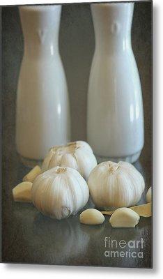 Garlic Vinegar And Oil Metal Print by Sophie Vigneault