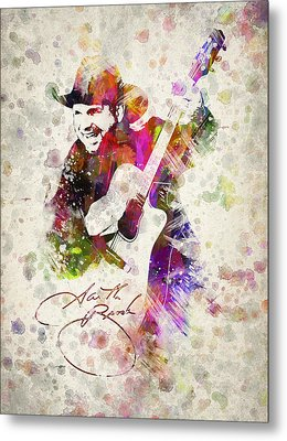 Garth Brooks Metal Print by Aged Pixel