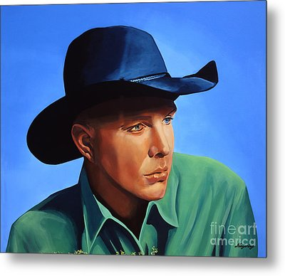 Garth Brooks Metal Print by Paul Meijering