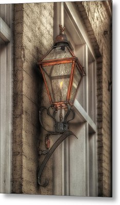 Gas Light Of New Orleans Metal Print