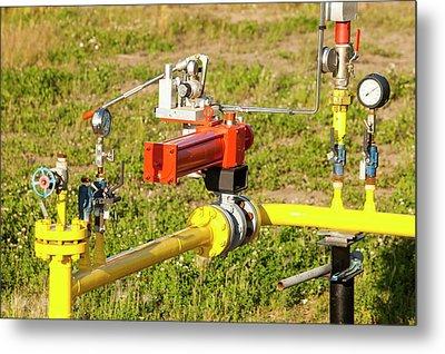 Gas Pipeline In Alberta Metal Print