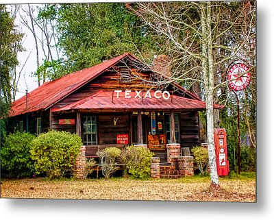 Metal Print featuring the photograph Gas Station 1 by Dawn Eshelman