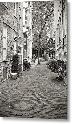 Gaslight Court Chicago Old Town Metal Print by Christine Till